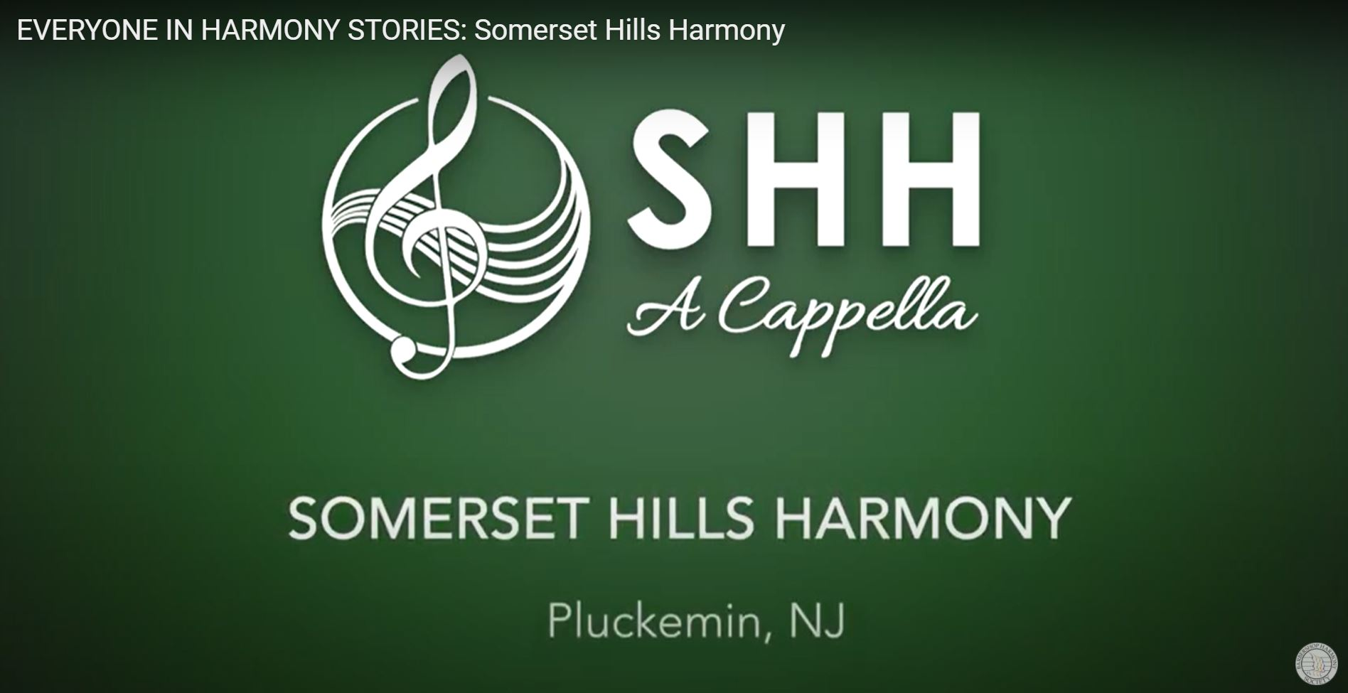 SHH Featured in Barbershop Harmony Society Everyone in Harmony Stories