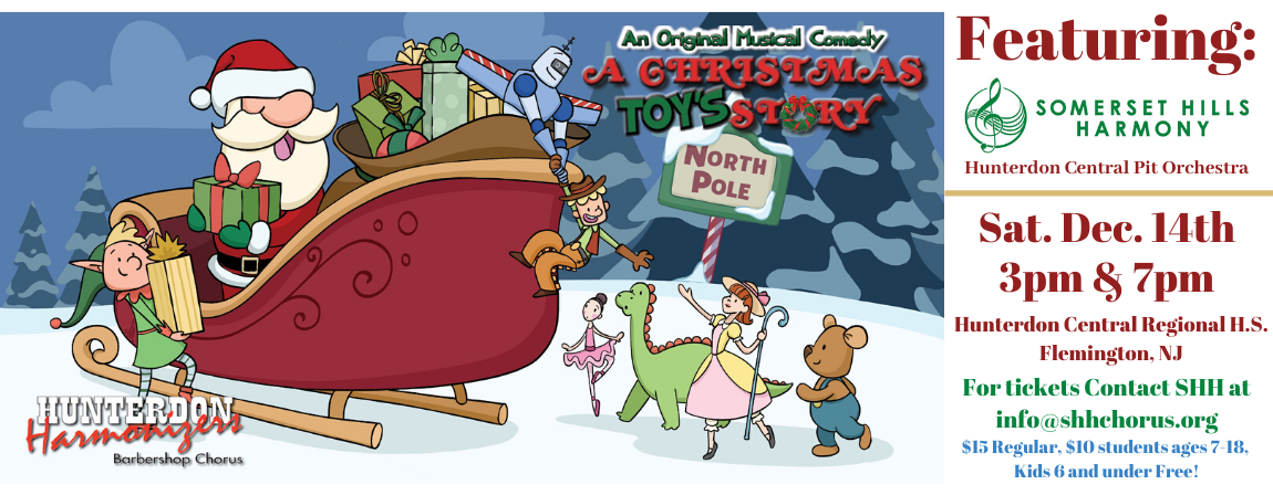 A Christmas Toy's Story - an original musical comedy with special guests: SHH! 7PM Show
